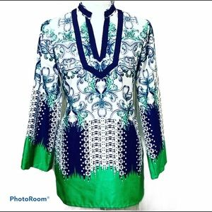 Jade Melody Tam Tunic Top Size Small